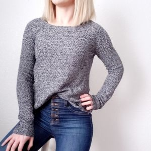 American Eagle Gray Marled Cozy Knit Sweater